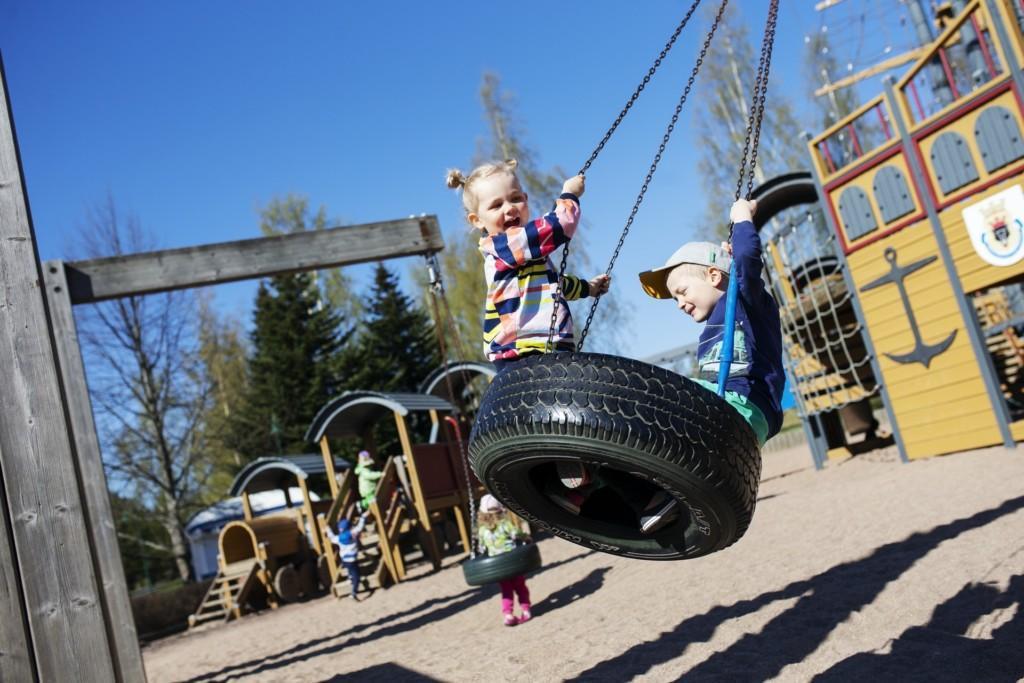 Pelle Hermannin puisto Porissa.